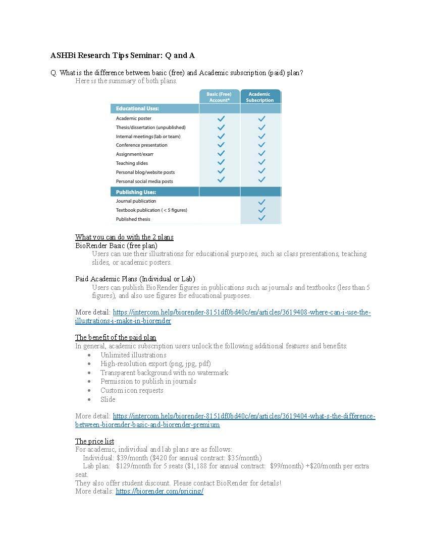 Research Tips Seminar 210312 Q&A